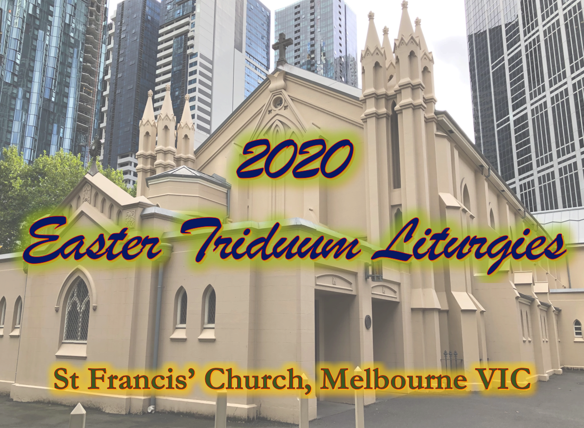Broadcast of the 2020 Easter Triduum Liturgies + Easter Sunday
